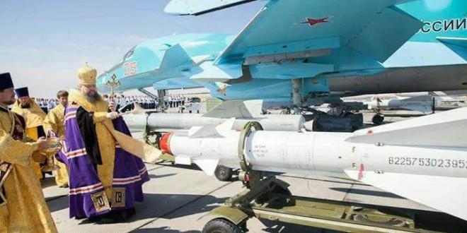 بدرقه موشکهای روسی با آب مقدس کلیسای ارتدوکس