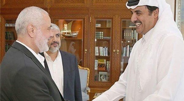 دیدار مشعل و هنیه با امیر قطر