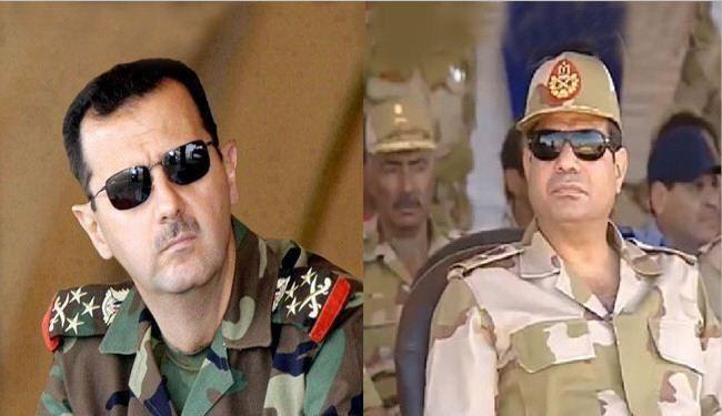 عبدالفتاح سیسی و بشار اسد